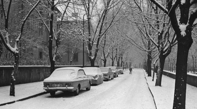 Saraçoğlu Mahallesi'nde karlı bir gün